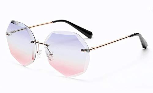 Wdxdp occhiali da sole occhiali da sole senza montatura poligonali stile estivo rosa da donna articoli da regalo da donna occhiali da sole senza montatura lenti sfumate