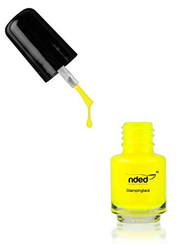 NDED Stamping-Lack - Professioneller Nageldesign Stempellack für die Nailart, Neon Gelb, gelb, 5 ml, ()
