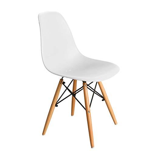 Dreh- & Arbeitshocker Stühle Büromöbel Startseite Computer Stuhl Stuhl aus massivem Holz Stuhl Sessel Bürostuhl Esszimmerstuhl Kann 100 kg tragen (Color : Weiß, Size : 42 * 40 * 82cm)