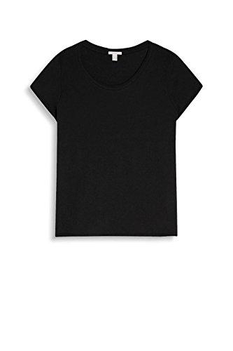 ESPRIT Damen T-Shirt 047ee1k023 Schwarz (Black 001)