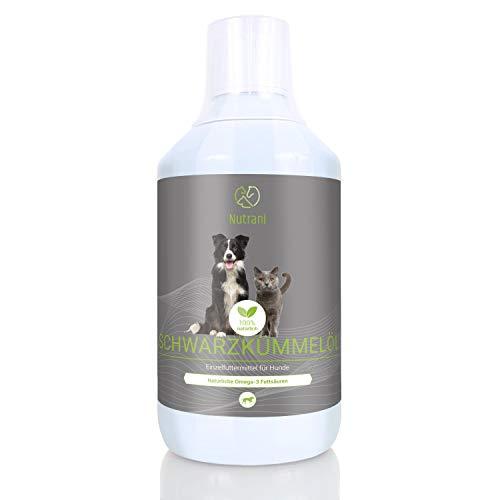 Nutrani Schwarzkümmelöl für Hunde   500ml - 100% natürlich - Kaltgepresst mit wertvollen Fettsäuren, Aminosäuren und Vitaminen