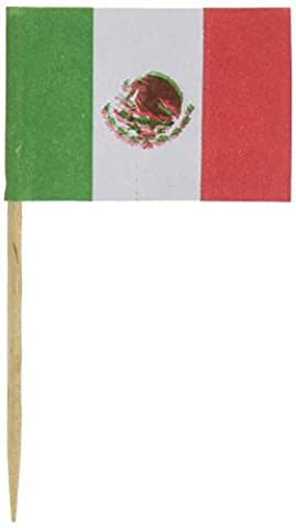 Royal 144 Count Mexican Flag Picks, Multicolored by Royal