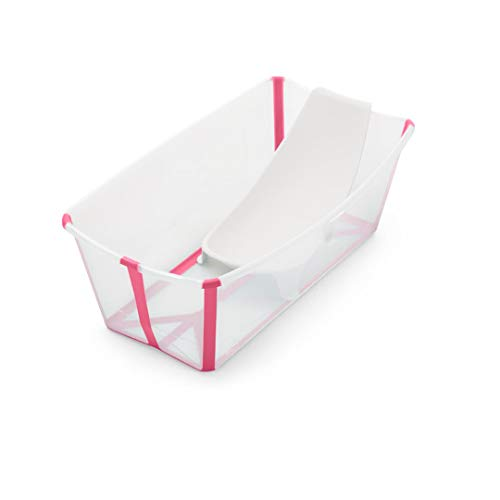 STOKKE Flexi Bath with Newborn Support - Transparent Pink