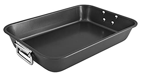 KOPF - Plat à gratin 40 cm Vasca Cocotte en acier au carbone, poignées en acier inoxydable pour plaque à induction, 5