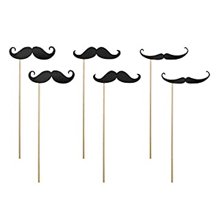 Wedding Props Moustaches 24 cm Pack of 6 Photo Requisites