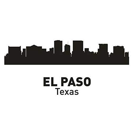 wandaufkleber 3d Wandaufkleber Schlafzimmer El Paso Stadt Aufkleber Wahrzeichen Skyline Sketch Decals Poster Home Decor Aufkleber für Wohnzimmer