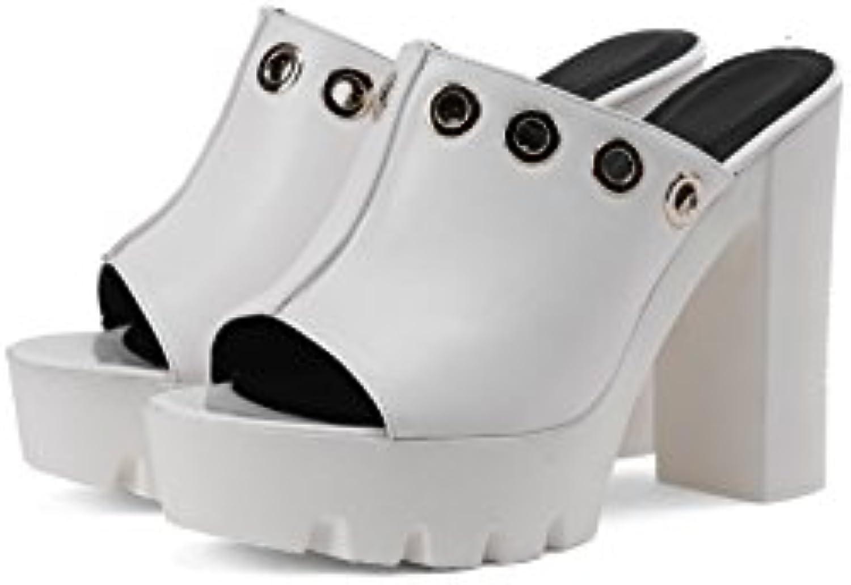 QIN&X Wouomo Sandals Block Heels Flip Flop | Autentico  Autentico  Autentico  | Uomo/Donne Scarpa  e1b81a