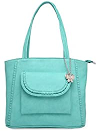 Butterflies Women Handbag (Light Green) (BNS 0643LGN)