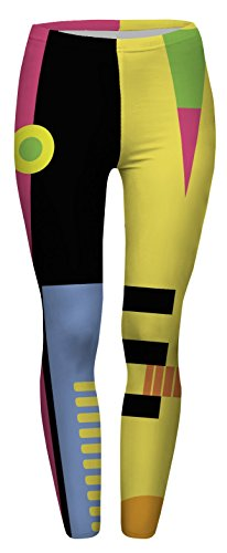 FRINGOO - Legging de sport - Femme Taille Unique Geometry