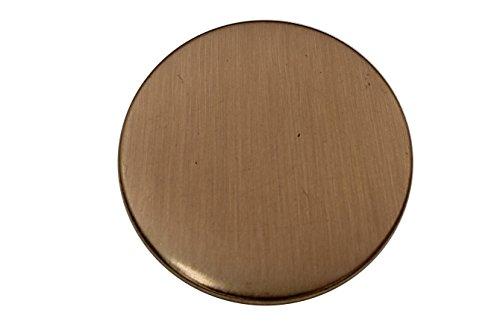 gold matt groß Metall Ösen Knöpfe flach Uniform Kostüm Gewand, made in Germany, ca.28mm oder ca.31mm, 6 Stück (31mm) -