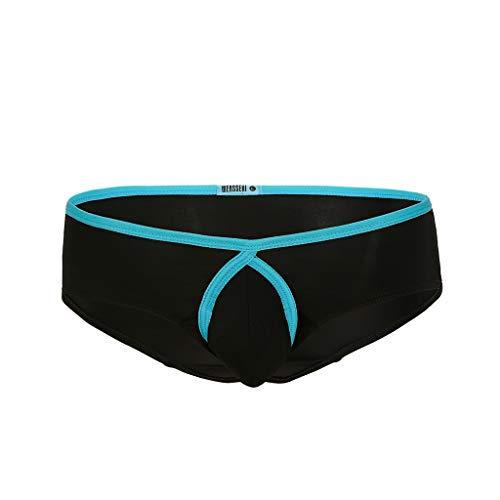Reversible Seide Hosen (kolila Herren Knickers Shorts Sommer Komfort Atmungsaktiv EIS Seide Cool Boxer Shorts Unterhose Badehose mit Bulge Pouch)