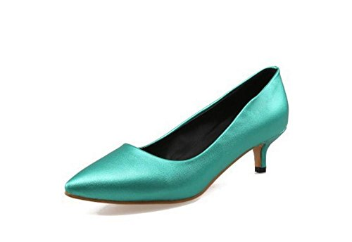 DamenschuheSpitzzehen Geschlossene Zehe flachen Mund dünn mit Mitte heeled Gericht Schuhe , green , (Schuhe Glitter Erwachsene Green Flache)