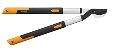 Fiskars SmartFit Teleskop-Heckenschere, Antihaftbeschichtet, Hochwertige Stahl-Klingen