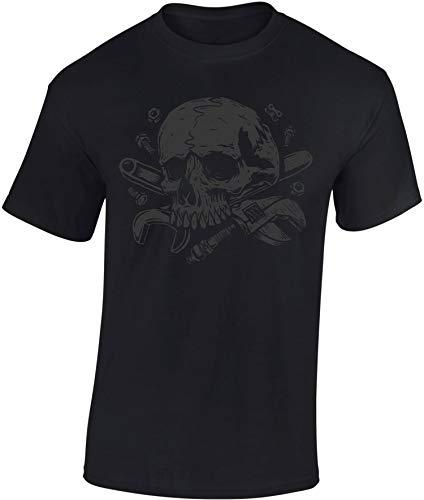 T-Shirt: Schrauber des Todes - Auto Motorrad T-Shirt Herren Damen - Mann Männer Frau-en - Tuning - Anarchy - Geschenk - Biker - Motorradfahrer-in - Werkstatt Mechaniker - Motor-Sport (M)