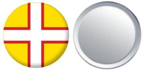 Miroir insigne de bouton Angleterre Dorset drapeau - 58mm