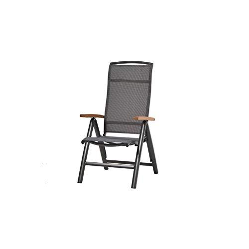 Plob 1200914Hochlehner Sessel zusammenklappbar, Grau, 70x 60x 112cm -