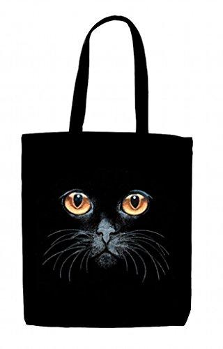 (ws) Bernstein Katzen Augen-Shopping wiederverwendbar Baumwolle Tasche