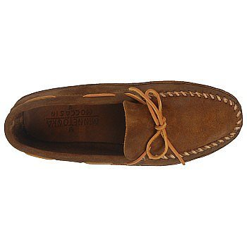 Minnetonka Double Bottom Softsole, Mocassins Homme brown