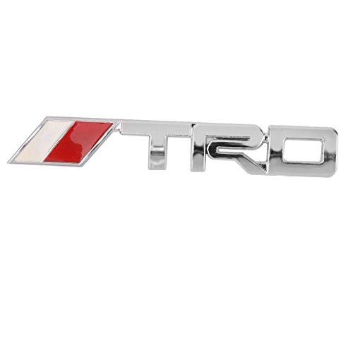 Auto 3d Metallo Cromato D'argento TRD Griglia Anteriore Griglia Distintivo Emblema Per (Emblema Del Metallo)