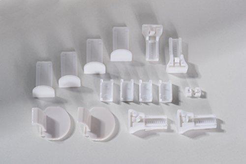 K-home Klemmfix-Plissee Palma Grün 80 x 130 cm (B x L) Lichtschutz +++ Moderne Crushed Optik +++ - 10