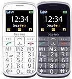 Beafon SL215 Großtastenhandy (6,1 cm (2,4 Zoll) TFT-Display, GSM-Dualband, 2 Megapixel Kamera, 3,5mm Klinkenstecker) anthrazit