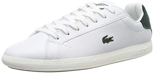 Lacoste Herren Graduate Bl 1 SMA Sneaker, Weiß (Wht/Dk Grn 1r5), 43 EU -