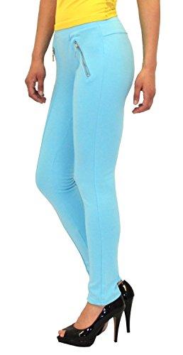 by-tex Damen High Waist Hose Stretch Röhrenhose Damen High Waisted Hose bis Übergröße 48, 50, 52, #J189 L14-türkis