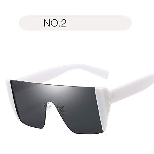 Sonnenbrillen der Frauen Mode dunkle Linse Retro-UV-Schutz Big Box Driving Angeln Golf Goggles Accessoires (Farbe : NO.2, Größe : Free Size)