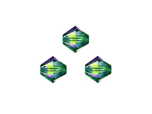 Med-kette (Creative-Beads Swarovskiperlen, Doppelkegel, konisch, 5328, 3 mm, 50 Stück, cr. vitrail med, aktuelle Modefarben für selbstgemachte Armbänder Ketten Ohrringe)