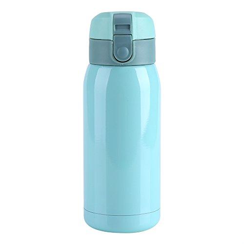 Isolierte Tasse, Edelstahl Isolierte Tasse Wasserflasche Vakuumisolierte Tasse Thermalwasser Kaffee Büro-Tasse(Blau 360ml)
