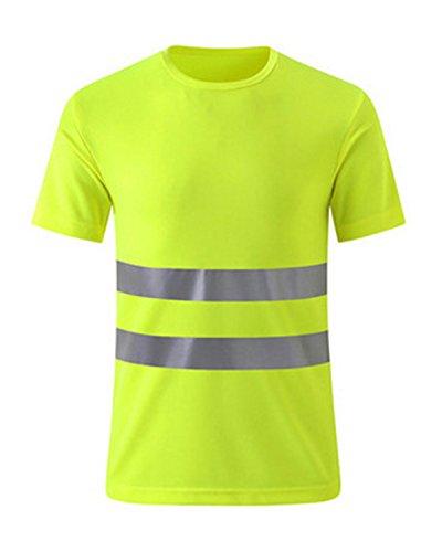 DULEE Hohes Sichtbarkeits Hemd Arbeitskleidung reflektierendes hallo Sicht-Sicherheits Arbeitskleidungs T-Shirt,M -