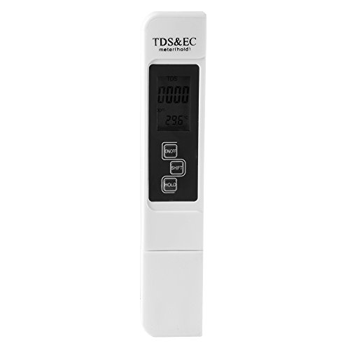 Preisvergleich Produktbild XCSOURCE® Wasser Qualität Prüfzähler EC Meter TDS Prüfer Wasser Prüfvorrichtung Leitfähigkeit Test Meter Weiß HS754