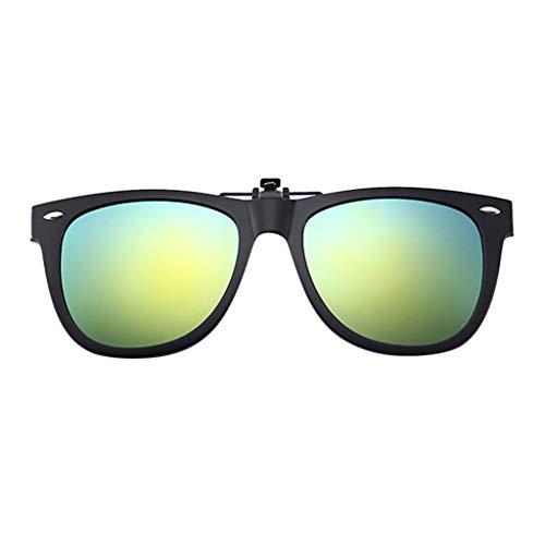 Lazzboy Polarisierte Sonnenbrillen Mit Clip Blendschutz Für Korrekturbrillen Nacht Vision Brille, Unisex Sportbrille, Polarisiert Sonnenbrille, Fahrbrille Radbrille Gelben Gläsern (Grün)
