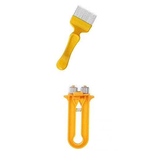 Fourche à Désoperculer + Pince à Sertir Tendeur de Câble pour Cadre de Ruche Accessoires d'apiculture