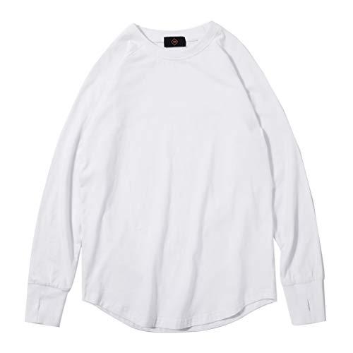 Lau's Jungen Langarmshirt Baseball T Shirt Kinder Pullover Shirt Langarm Baumwolle Weiß 11-12 Jahre