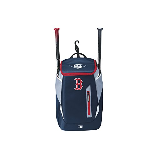Wilson Louisville Slugger Baseball Rucksack, Boston Red Sox, MBL GENUINE (SERIES 3) STICK PACK, Dunkelblau/Grau, WTL9302TCBOS