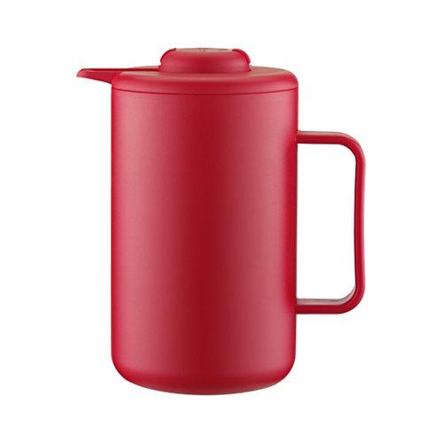 Bodum BISTRO Thermoskanne (Doppelwandig, Vakuum-Isolierung, Edelstahl, 1,0 liters) rot -