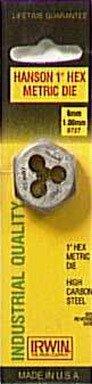 Irwin Hanson 9727ZR Gewindeschneider, Sechskant, 2,5 cm, 6 mm