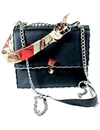 MarsHauteCouture Women's Synthetic Sling Bag Black MHC5