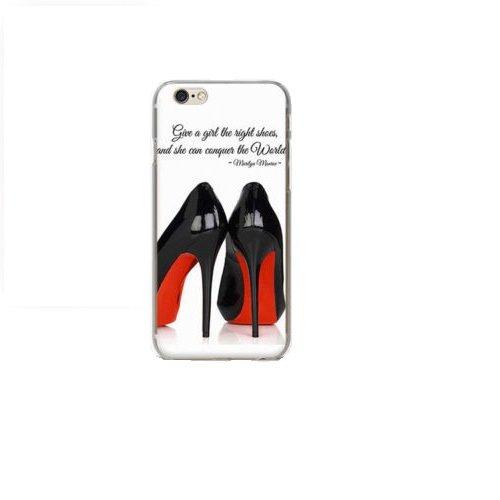 Handy Hülle mit Motiv Case Cover Silikon Schutzhülle TPU von ZhinkArts für Apple iPhone 7 Pusteblume Weiß M14 M27 High Heels Pumps