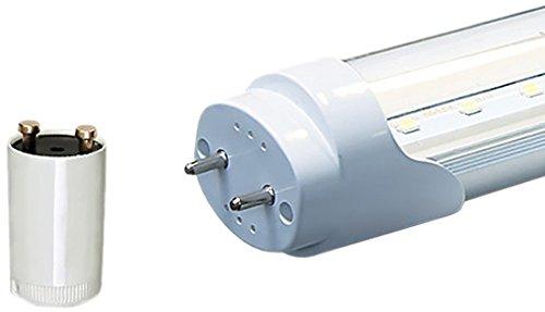 LEDVero 1x SMD LED Röhre / Tube Leuchtstoffröhre T8 G13 transparente Abdeckung - 60 cm, 8 W, neutralweiߟ 4500K, 800lm- montagefertig