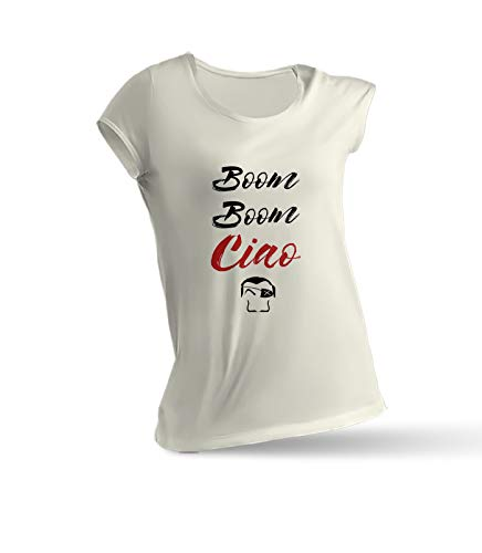 T Shirt Woman LA CASA DE Papel. Palermo Boom Boom CIAO. XXL -