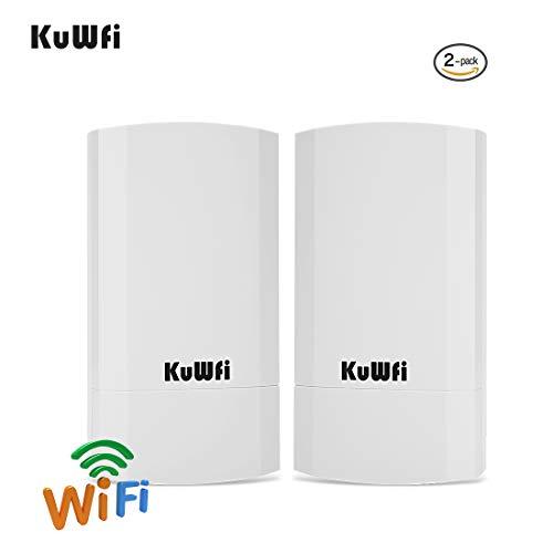 KuWFi 300Mbps Indoor & Outdoor Punkt-zu-Punkt-Wireless Bridge/CPE Unterstützt 2KM Übertragungsentfernung Lösung für PTP, PTMP-Anwendung (WDS) Wireless Access Point/Bridge-Kit mit LED-Anzeige