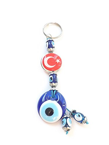key-fob-evil-eye-nazar-boncuk-turkish-evil-eye-star-bayrak-red-flag-silver-blue