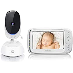 """Motorola Baby Comfort C75 - Babyphone vidéo avec écran 5.0"""", éco-mode,vision nocturne, capteur de la température ambiante, blanc"""