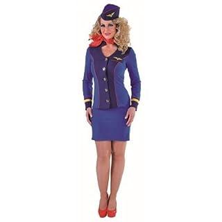 Sexy Stewardess Kostüm für die Damen in marineblau Gr. XS = 34