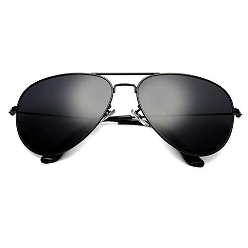 SUNGLASSES Sonnenbrille Man, Large Frame Driving Strahlenschutz Anti-UV-Augenschutz Shades Wayfarer Polarized (Farbe : A)