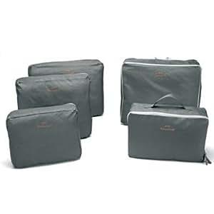 Bags-in-Bag Travel Organizer Light Grey (set of 5)