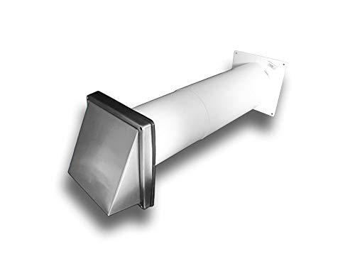 Bps Access Solutions Cappa Di Ventilazione Da Parete In Acciaio Inox Con Valvola Antiriflusso ø 100 Mm Con Tubo Telescopico