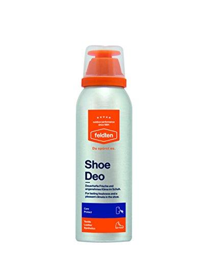 feldten Shoe Deo mit 3-Stufen-Effekt, dauerhafte Frische und angenehmes Klima im Schuh. 125 ml